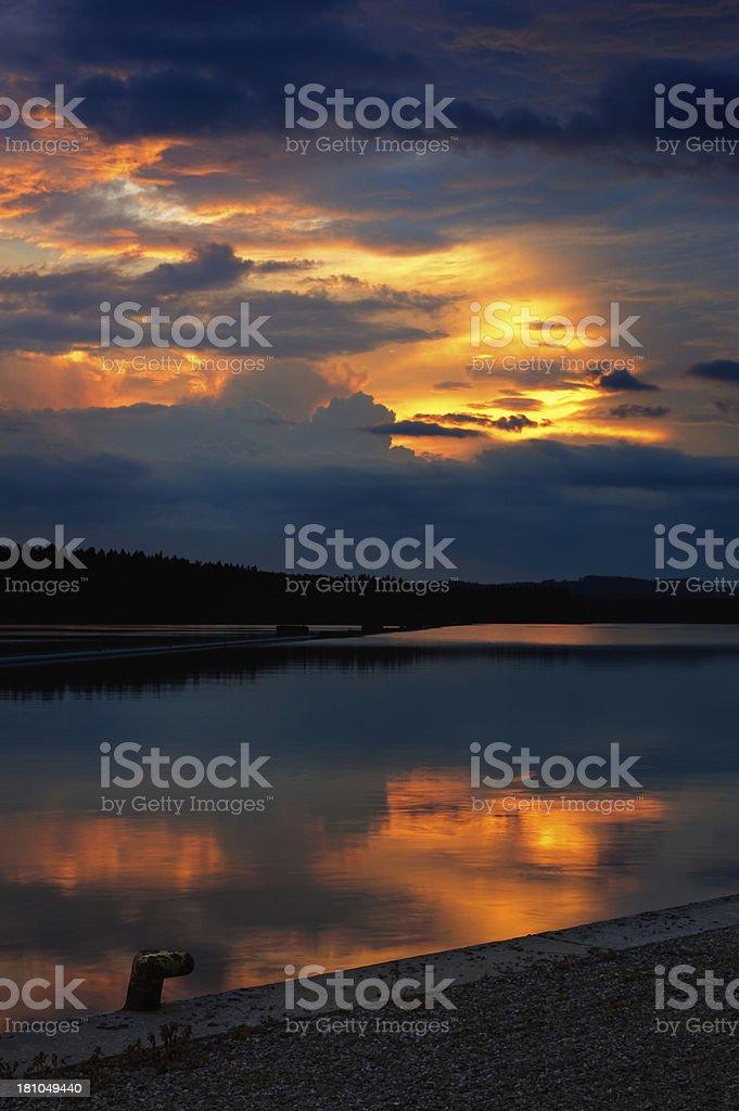 Summer sunset royalty-free stock photo