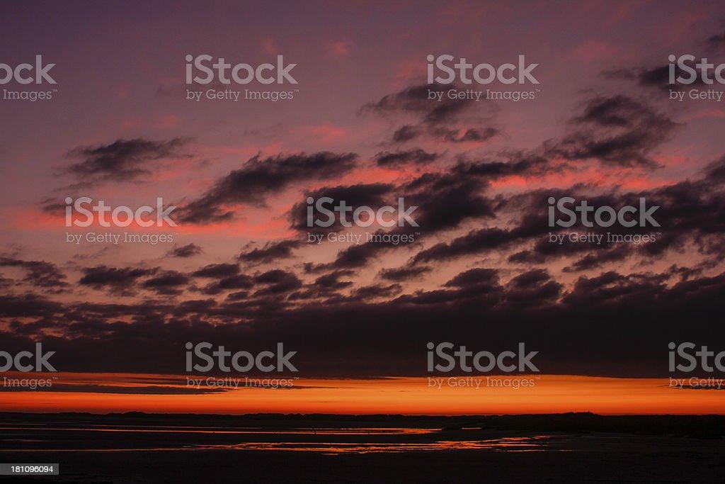 Summer sunset stock photo