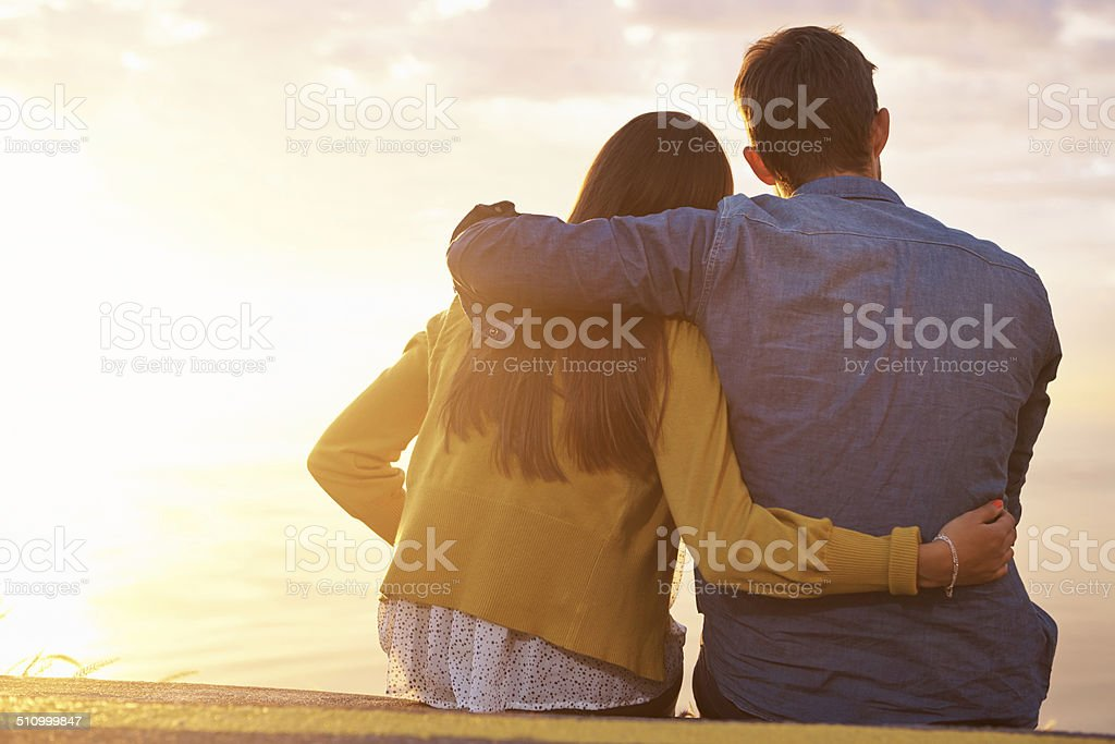 Summer sunsets are all we need stock photo