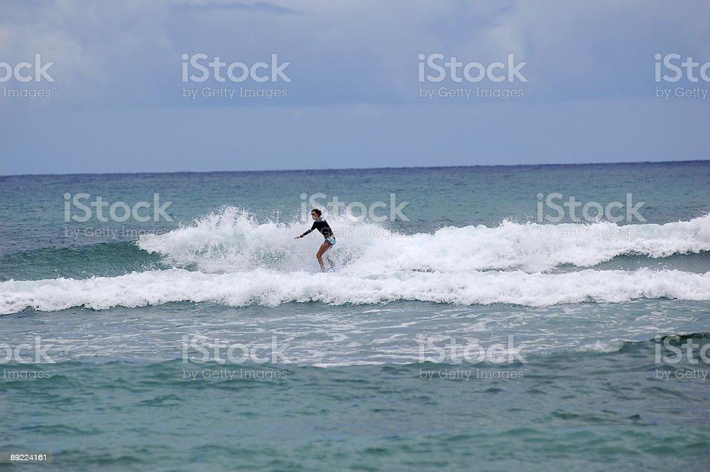 Summer surfer stock photo