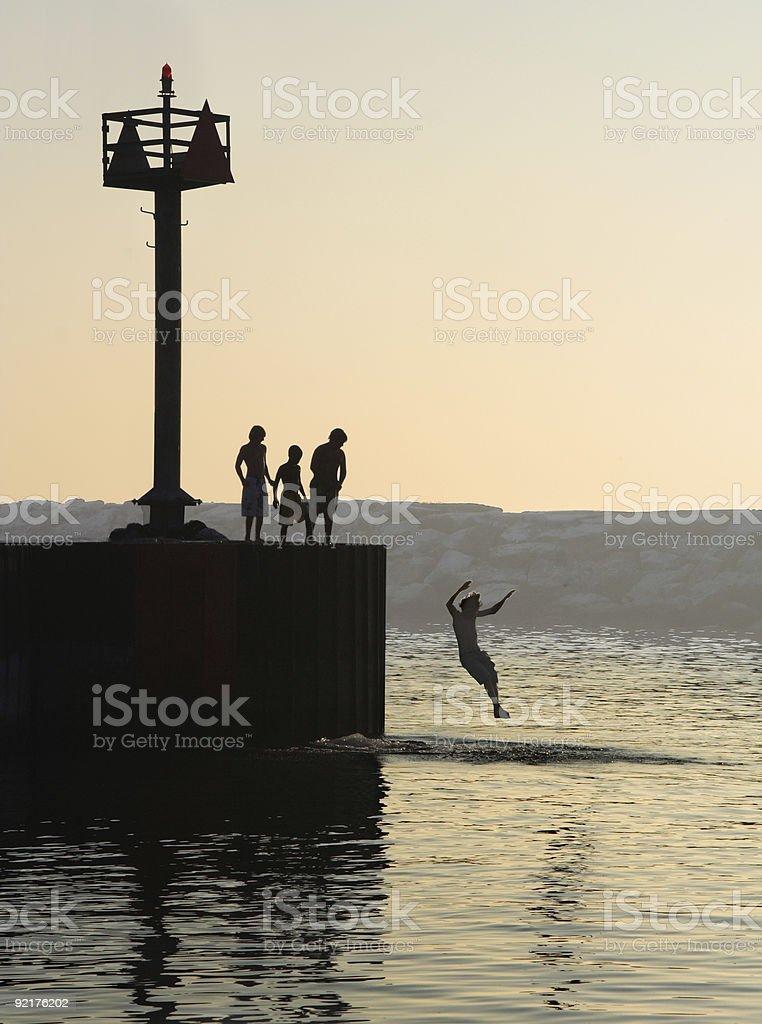 Summer swim stock photo