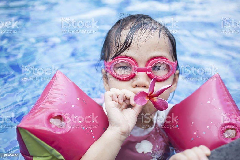 Summer Swimming Fun stock photo