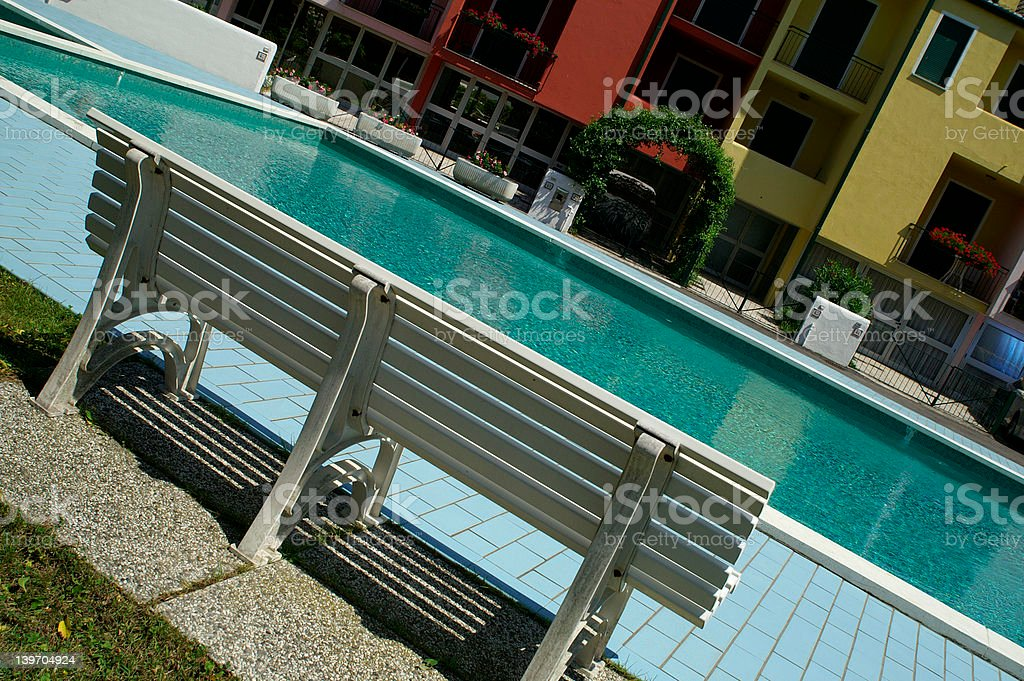 Summer swimming pool stock photo