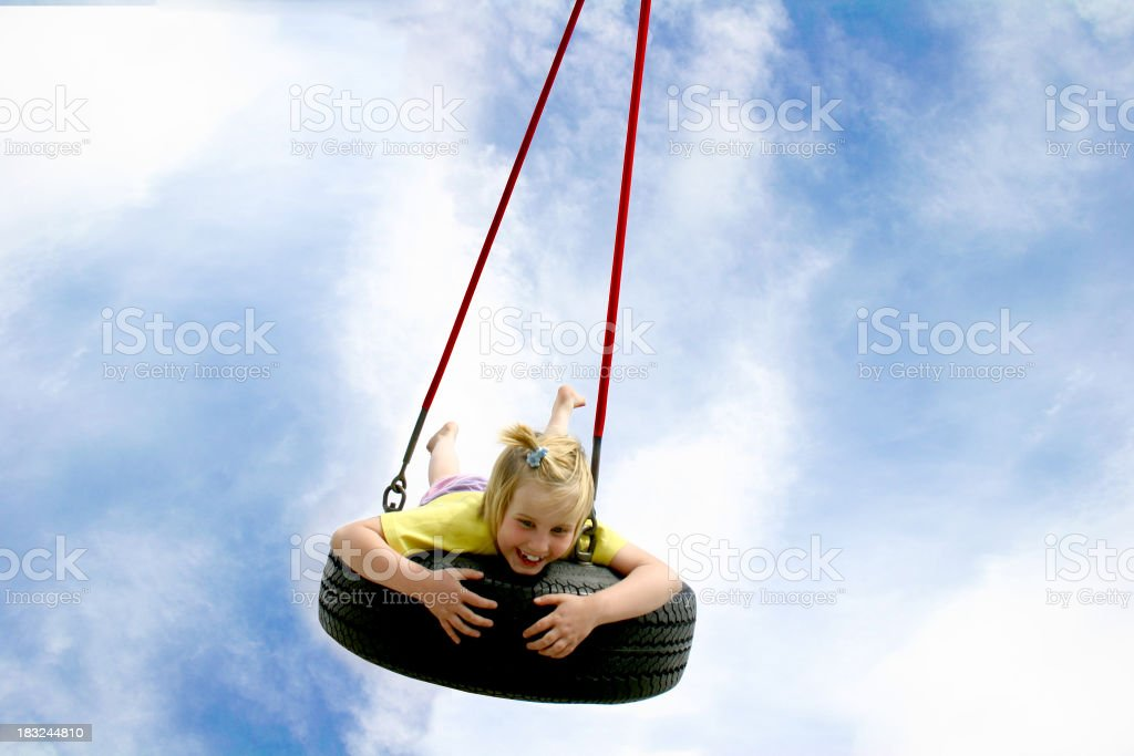 Summer swing II stock photo