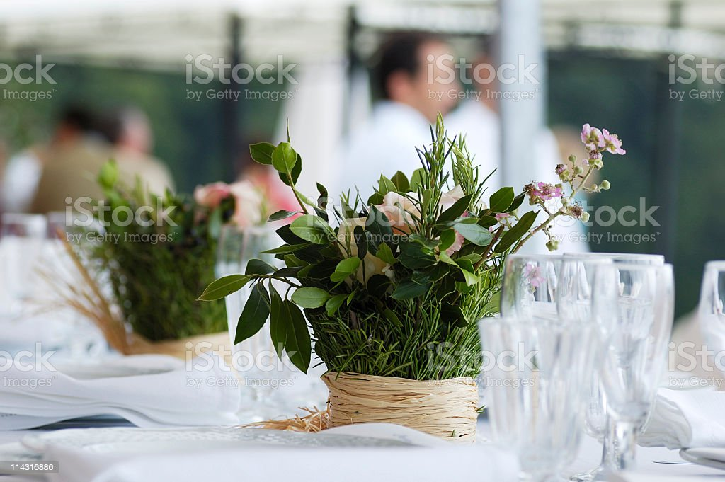 Summer Table Decoration royalty-free stock photo