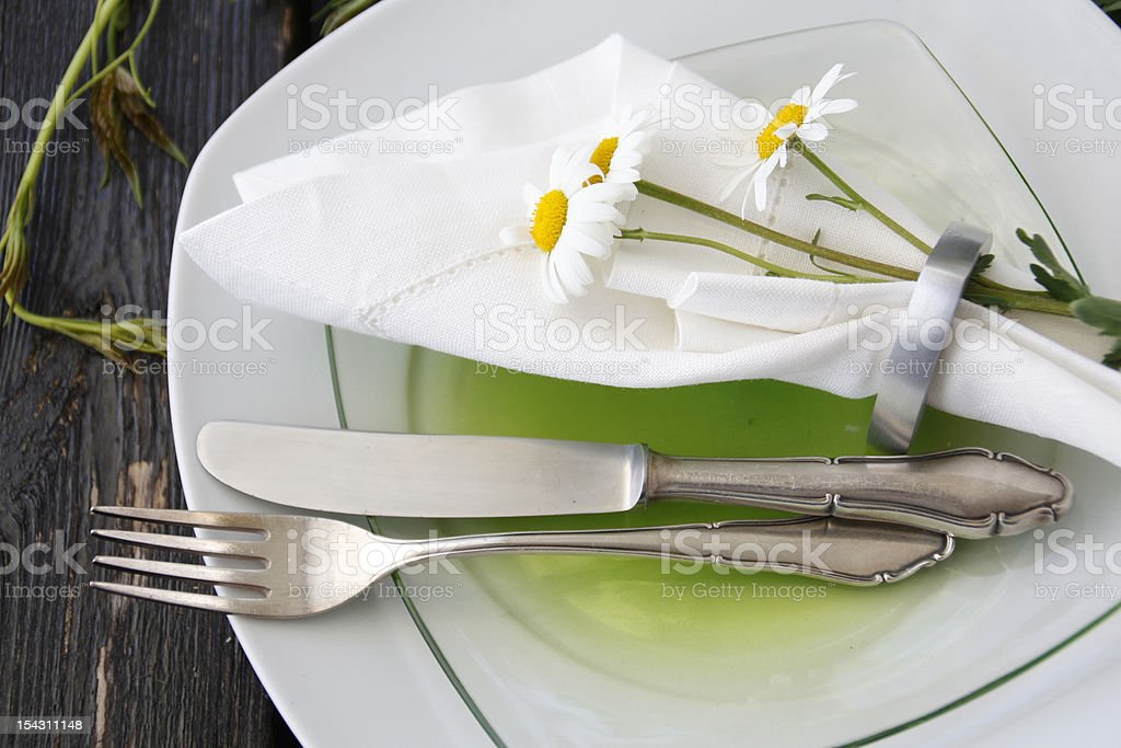 Summer table setting royalty-free stock photo