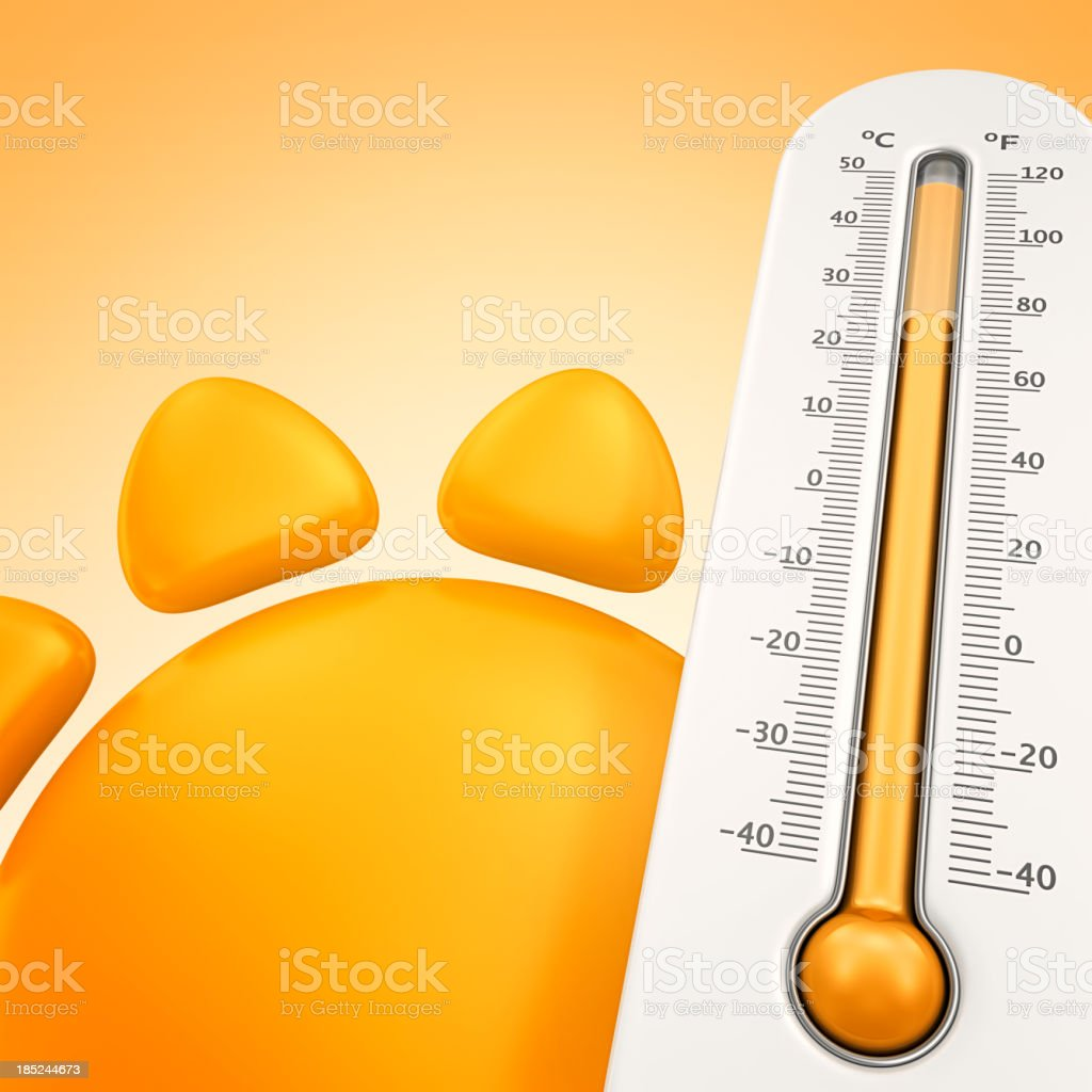 summer temperature stock photo