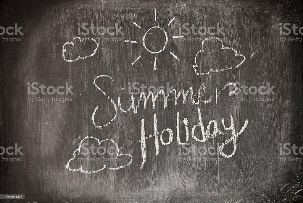 Summer theme design on black royalty-free stock photo