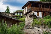 Summer time along the streets of Kovachevitsa village, Bulgaria