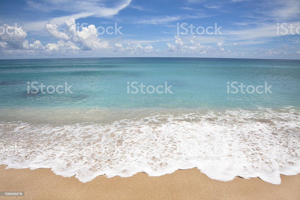 summer time and beach stock photo