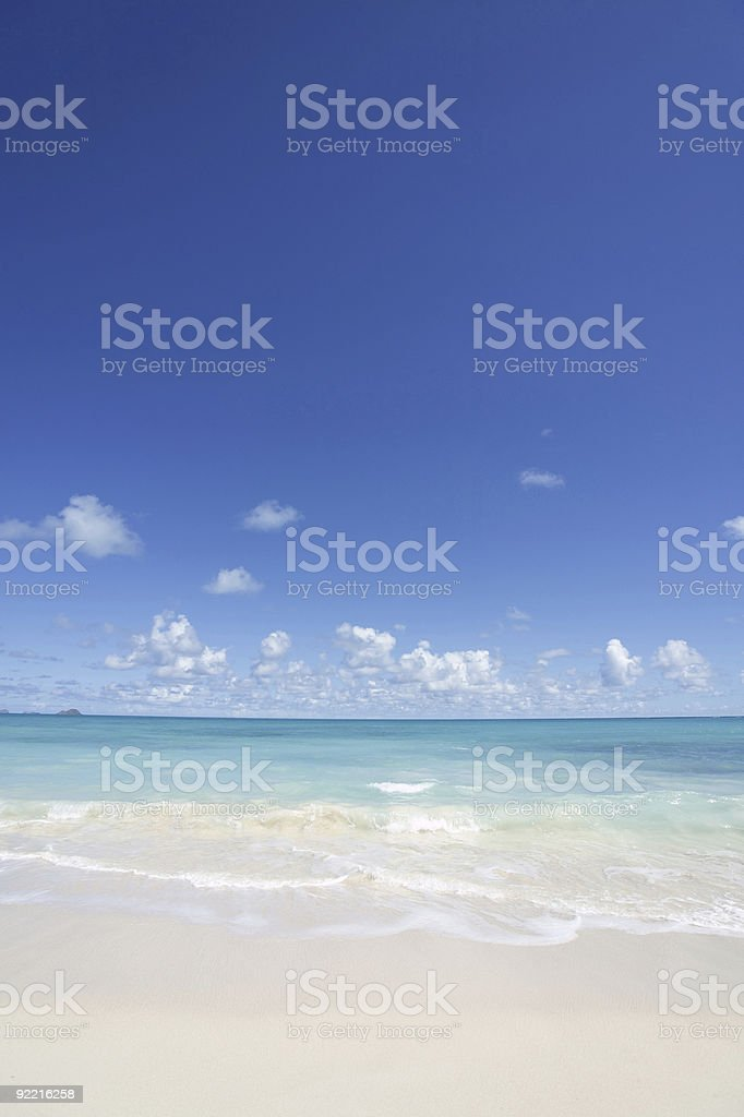 Summer time at the beach royalty-free stock photo