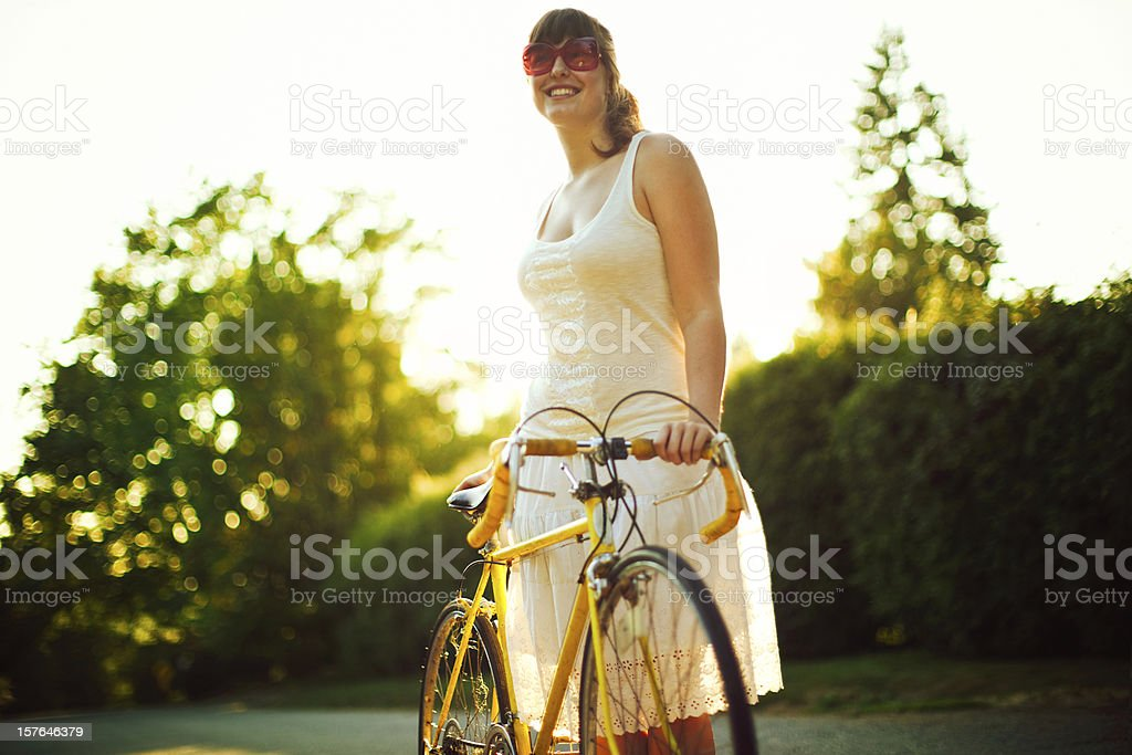 Summer Time Bike Ride stock photo