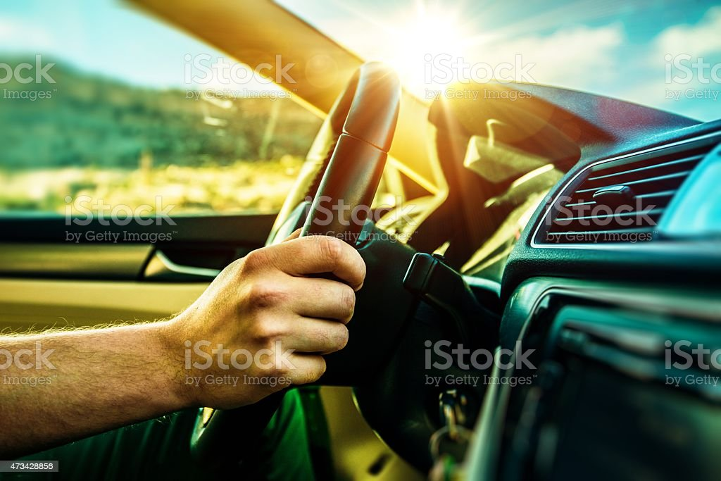 Summer Time Car Trip stock photo