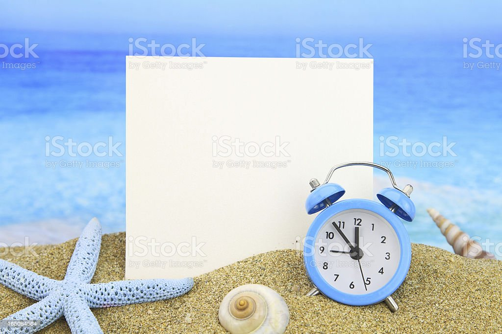 Summer time card royalty-free stock photo