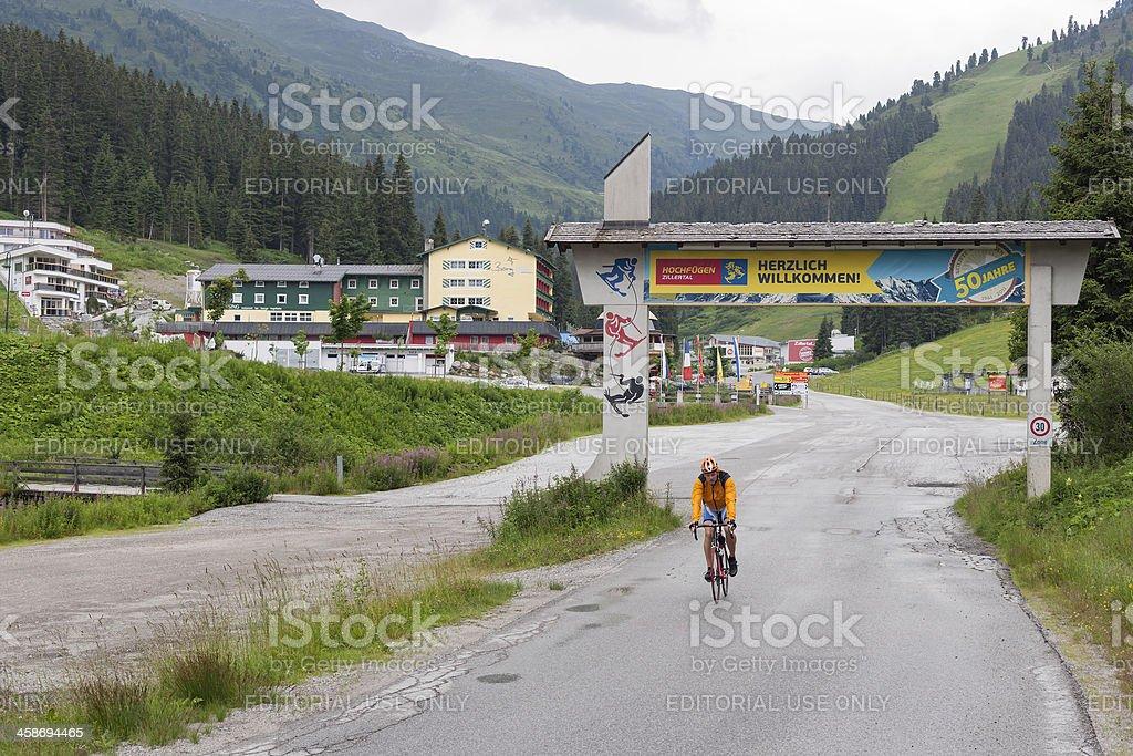 Summer time in Austrian Hochfügen ski resort royalty-free stock photo