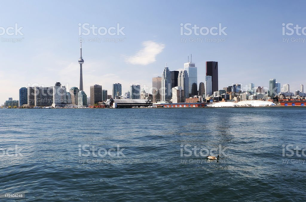 Summer time in Toronto City stock photo