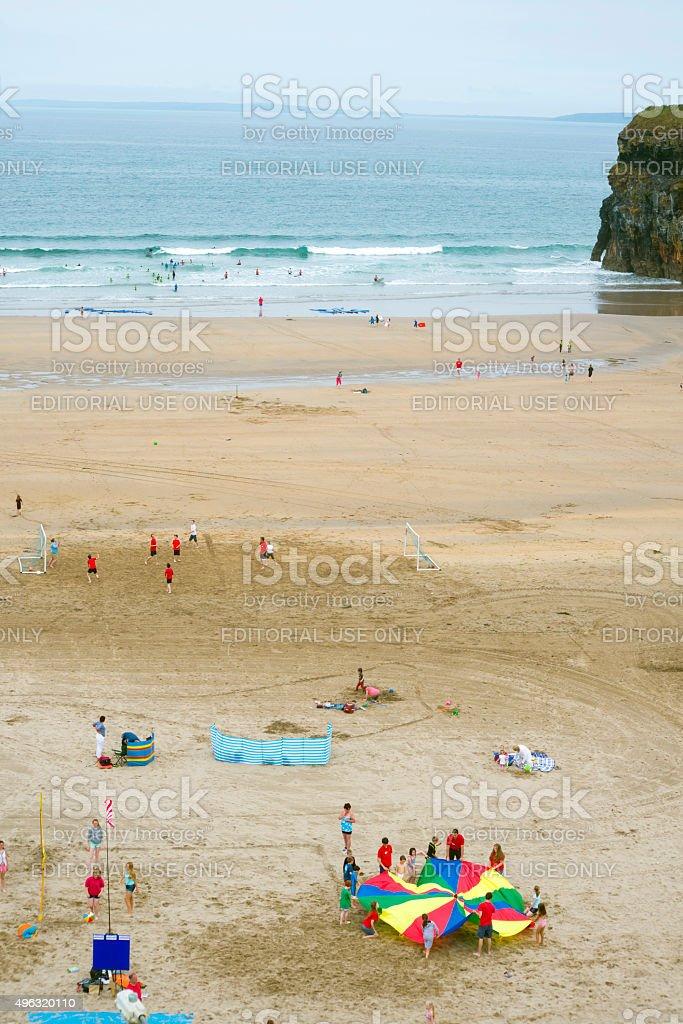 summer time on ballybunion beach stock photo