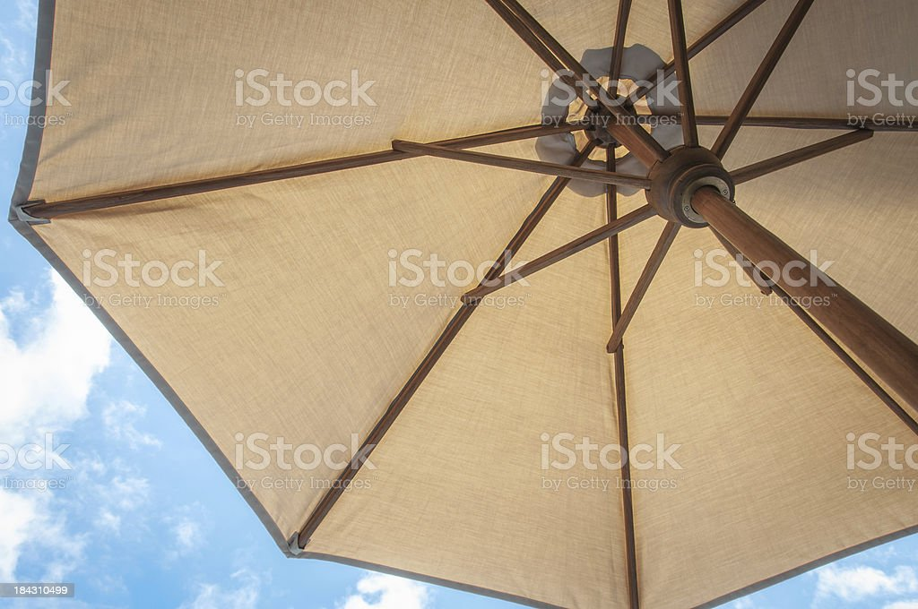 Summer time under the umbrella stock photo