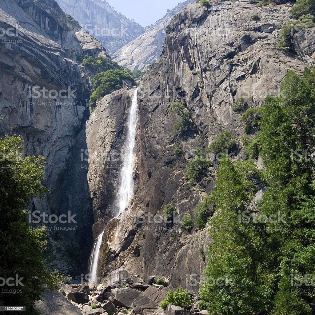 Summer time Yosemite Water Fall stock photo