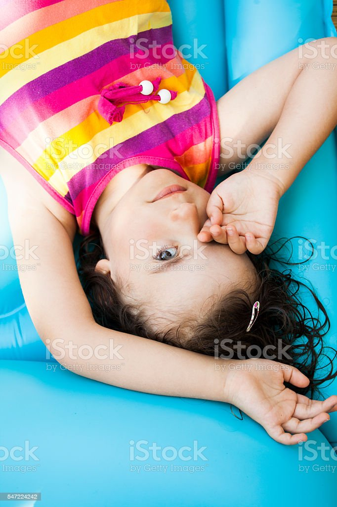 summer tiredness stock photo