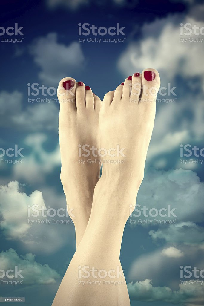 Summer Toes royalty-free stock photo