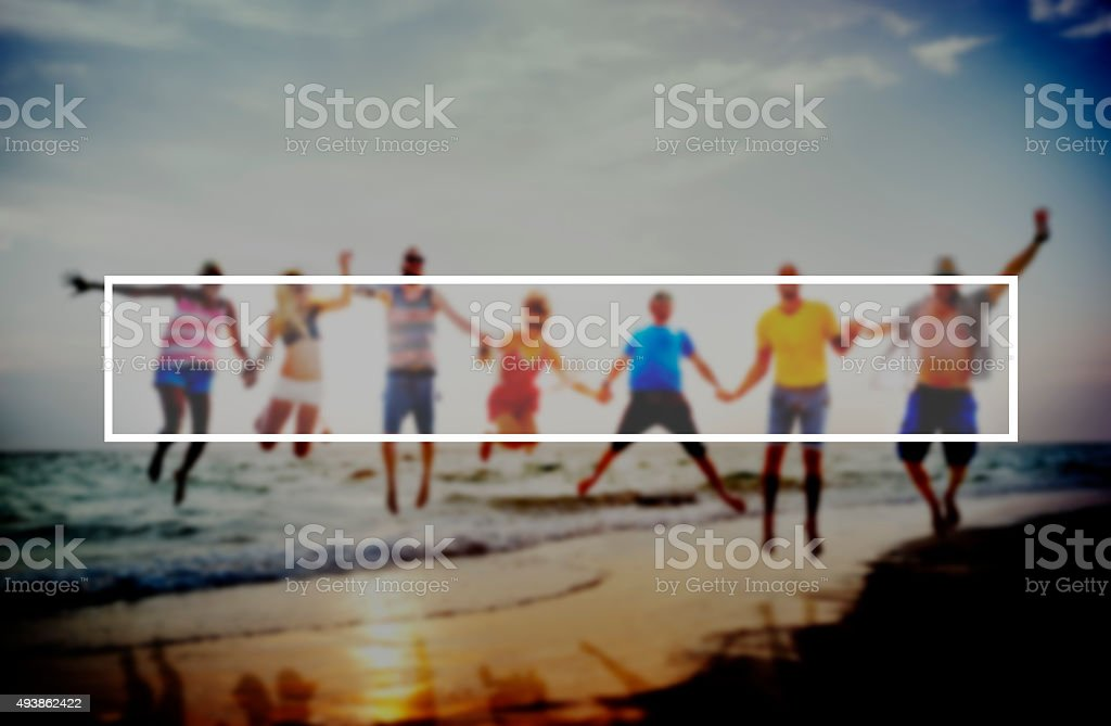 Summer Togetherness Friendship Vacation Bonding Concept stock photo