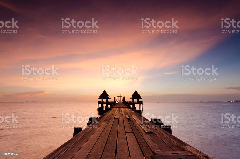 Summer, Travel, Vacation and Holiday concept - Wooden stock photo