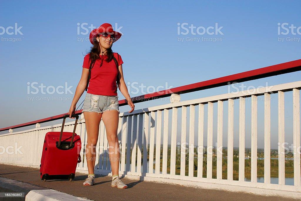 Summer traveller royalty-free stock photo