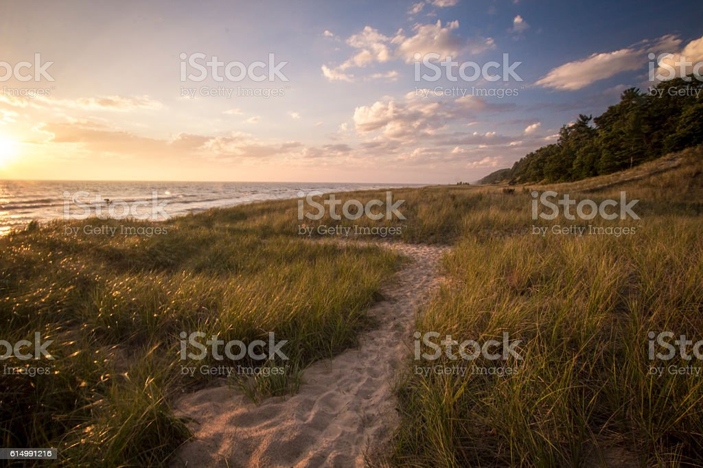 Summer Vacation At The Beach stock photo