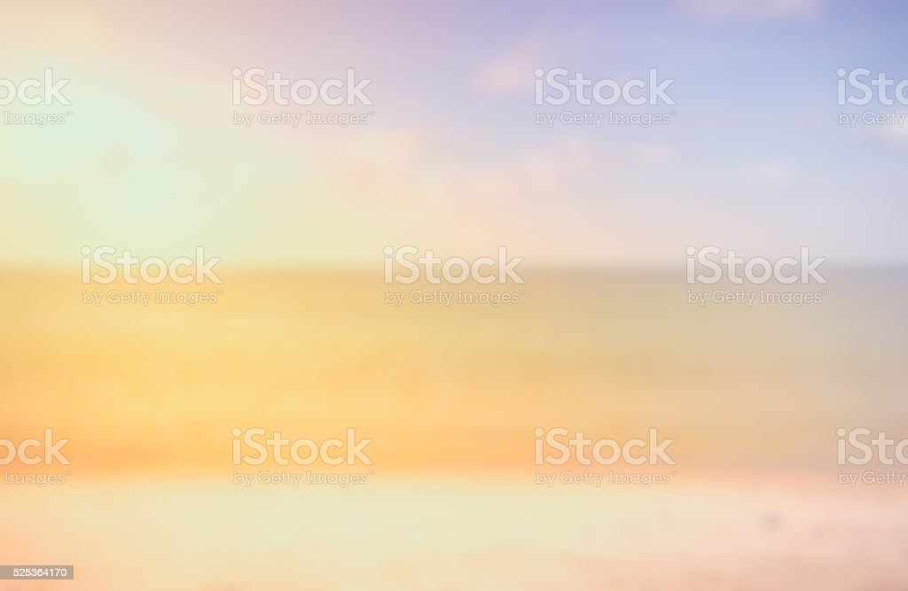 summer vacation Concept - Blurred sunset on the beach. stock photo