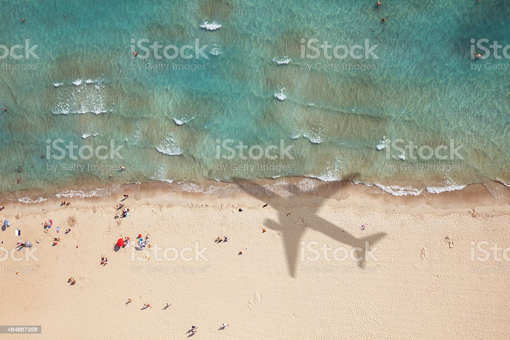 Summer Vacation Flight stock photo