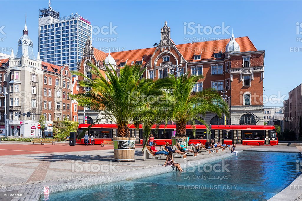 Summer vacation in Katowice, Poland stock photo