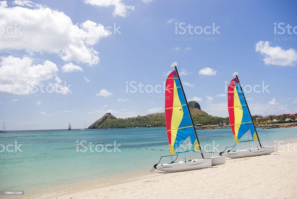 summer vacation in the caribbean; tropical exotic beach stock photo