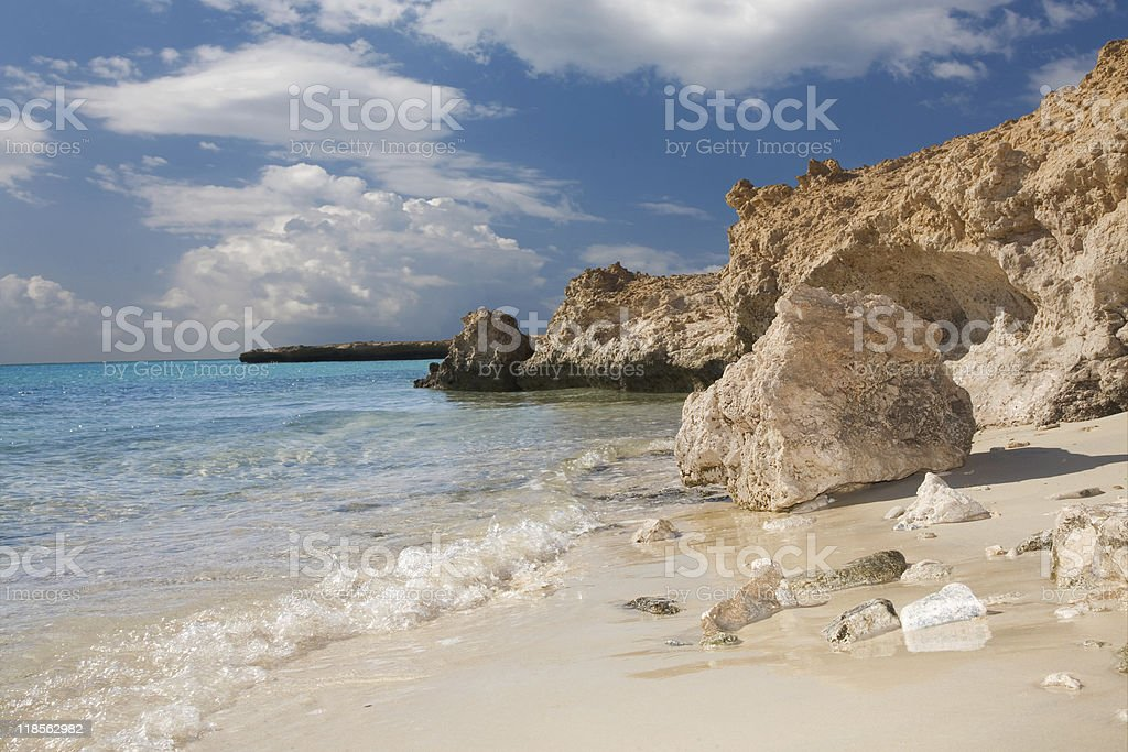 Summer vacation landscape on the Red Sea coastline stock photo