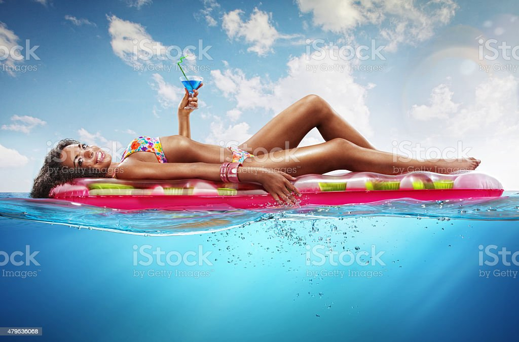 Summer. Vacation on the beach stock photo