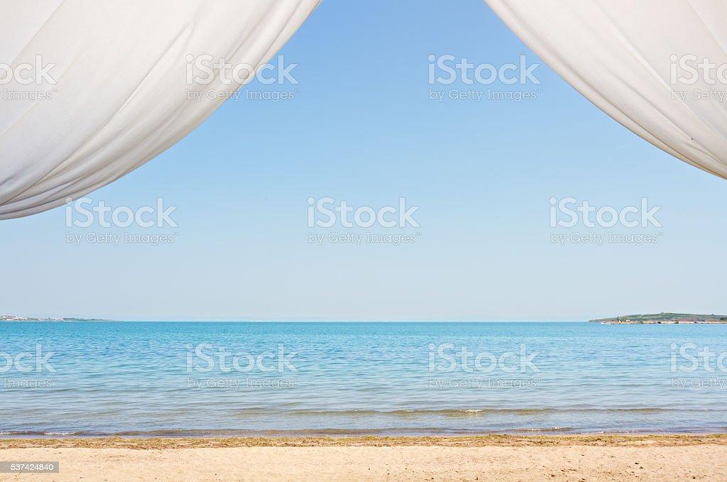Summer vacation on the beach stock photo
