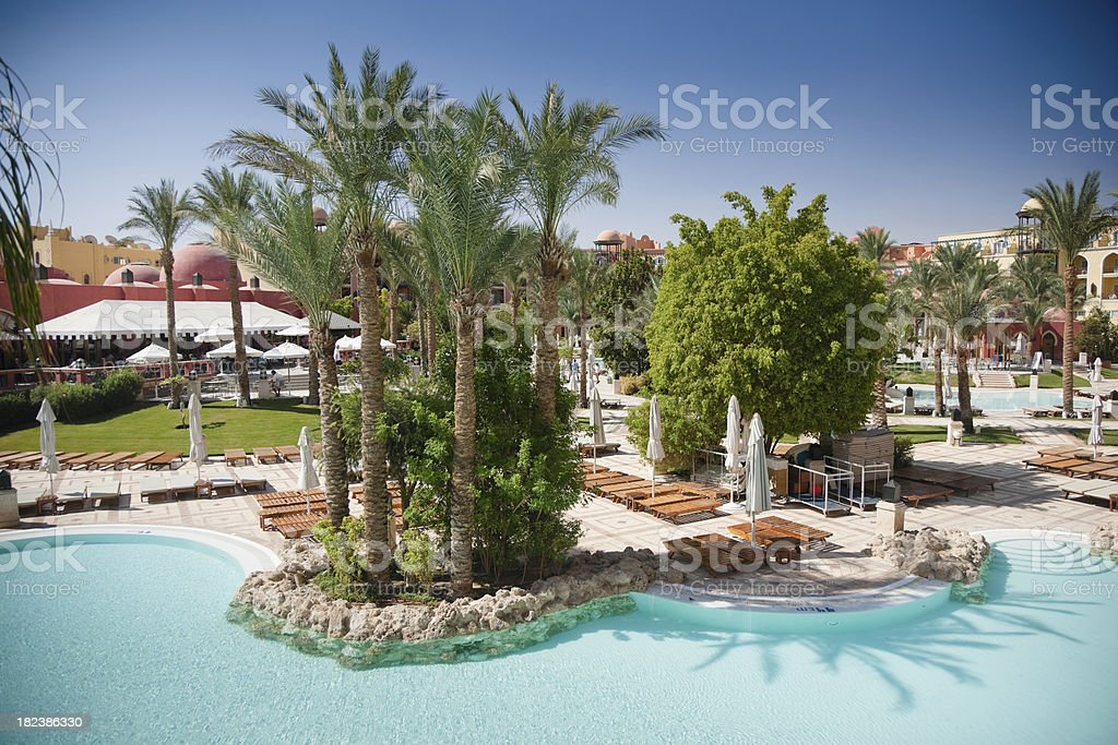 Summer Vacation Tourist Resort royalty-free stock photo