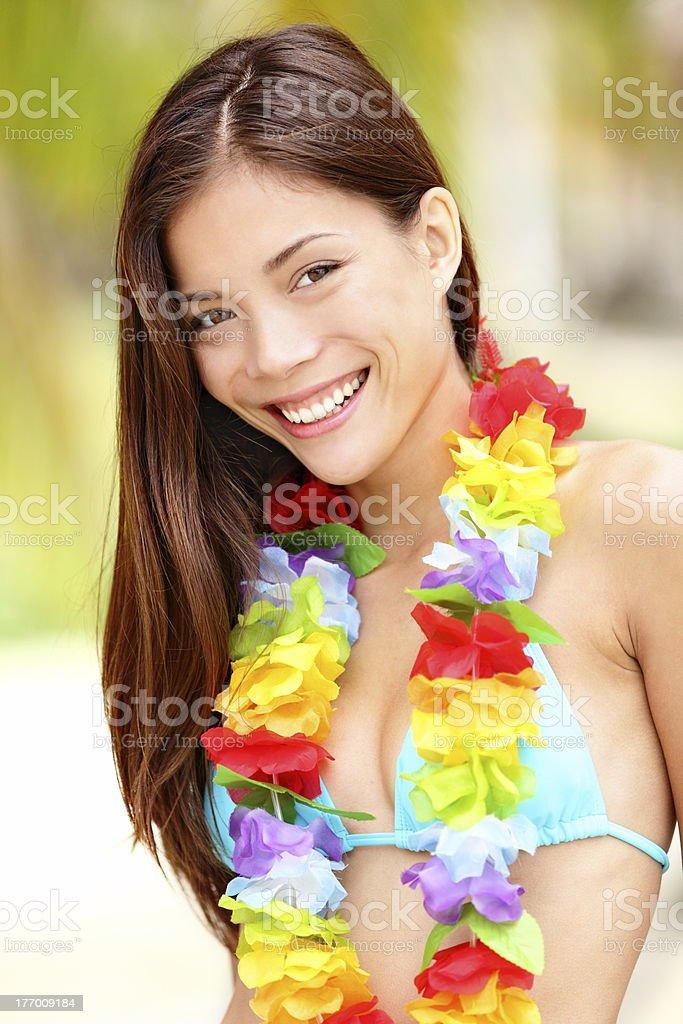 Summer Vacation woman happy royalty-free stock photo