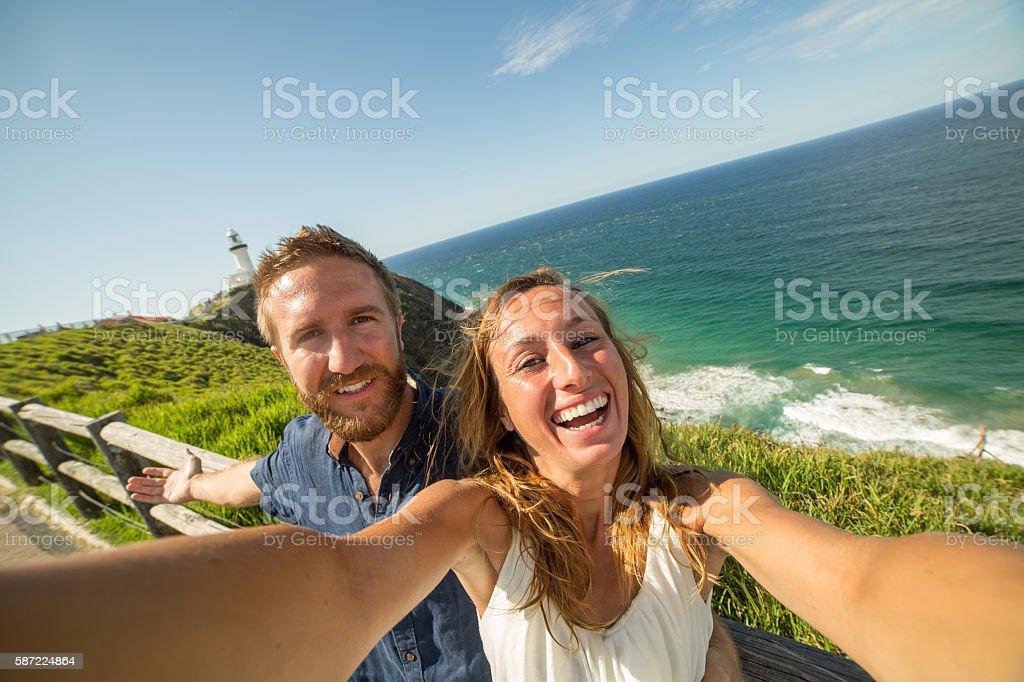 Summer vacations selfie stock photo