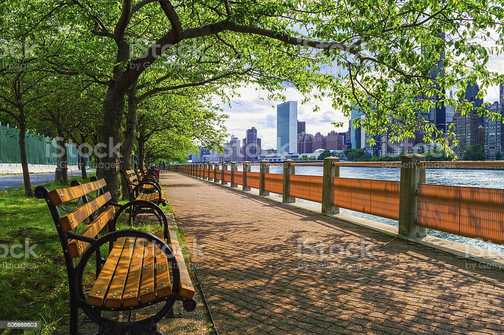 Summer View East River stock photo