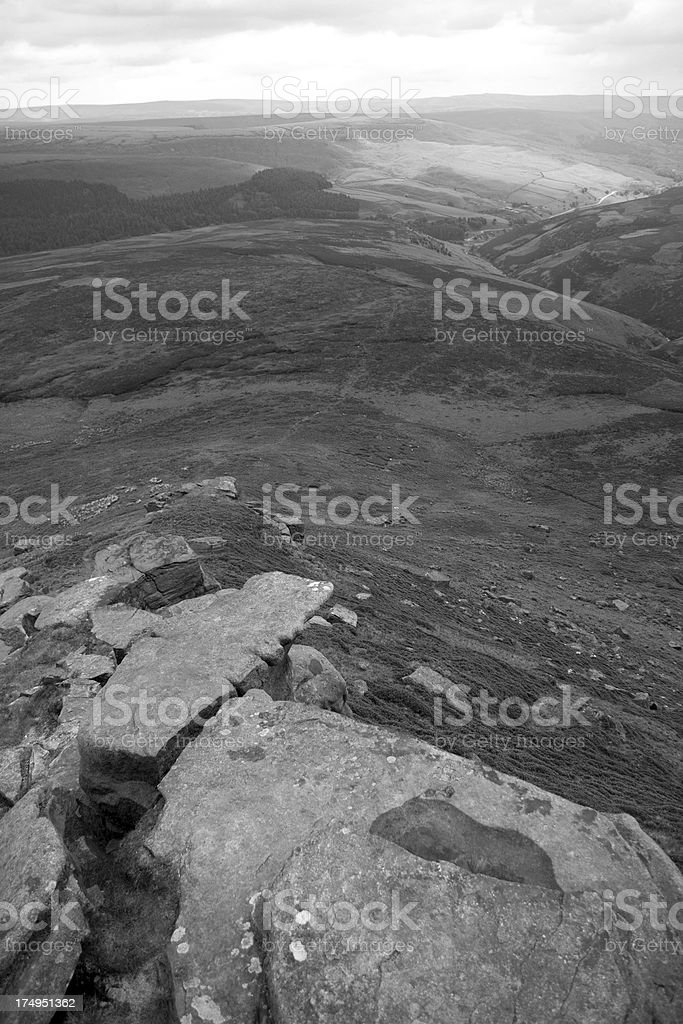 Summer view from Kinder Scout, Peak District UK stock photo