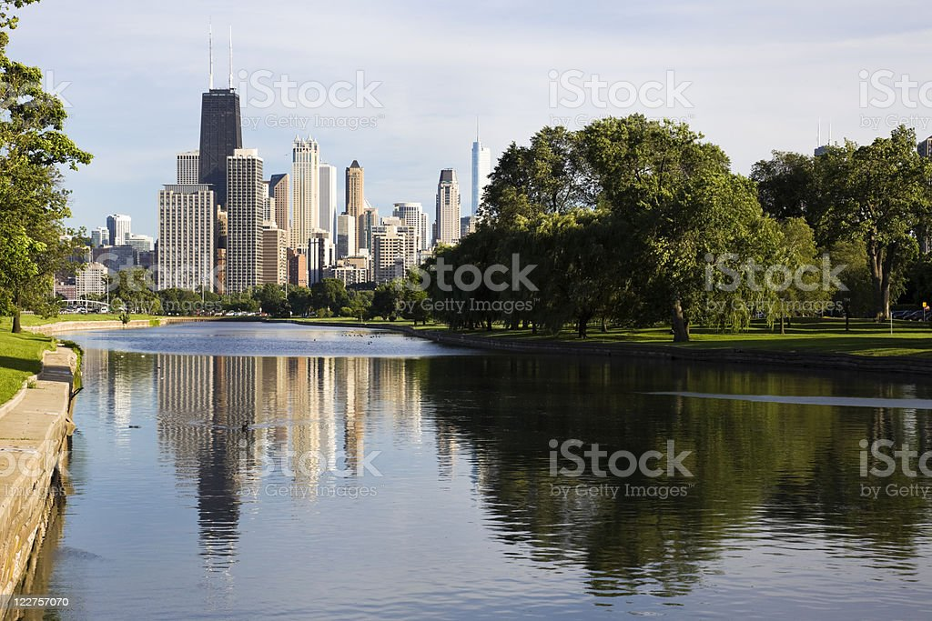 Summer view from Lincoln Park stock photo