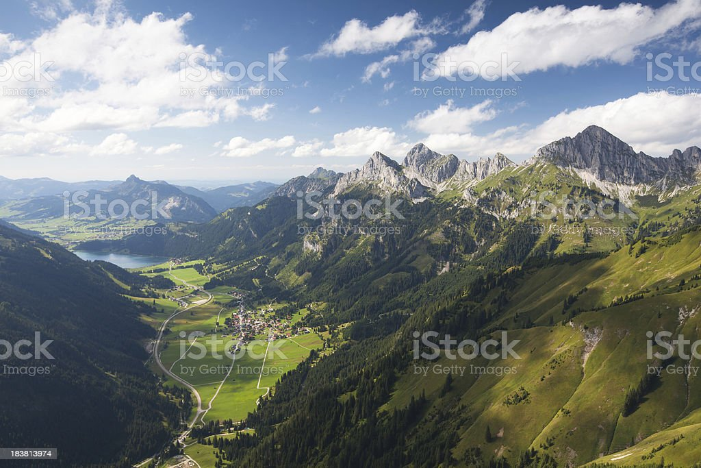 summer view on the tannheimer tal, tirol, austria stock photo
