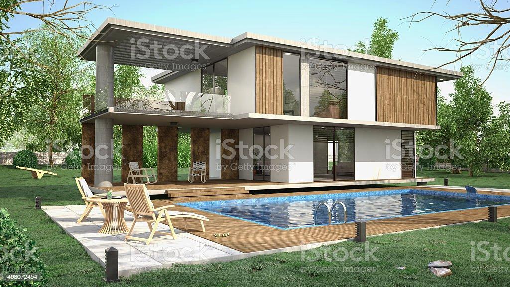 Summer Villa stock photo