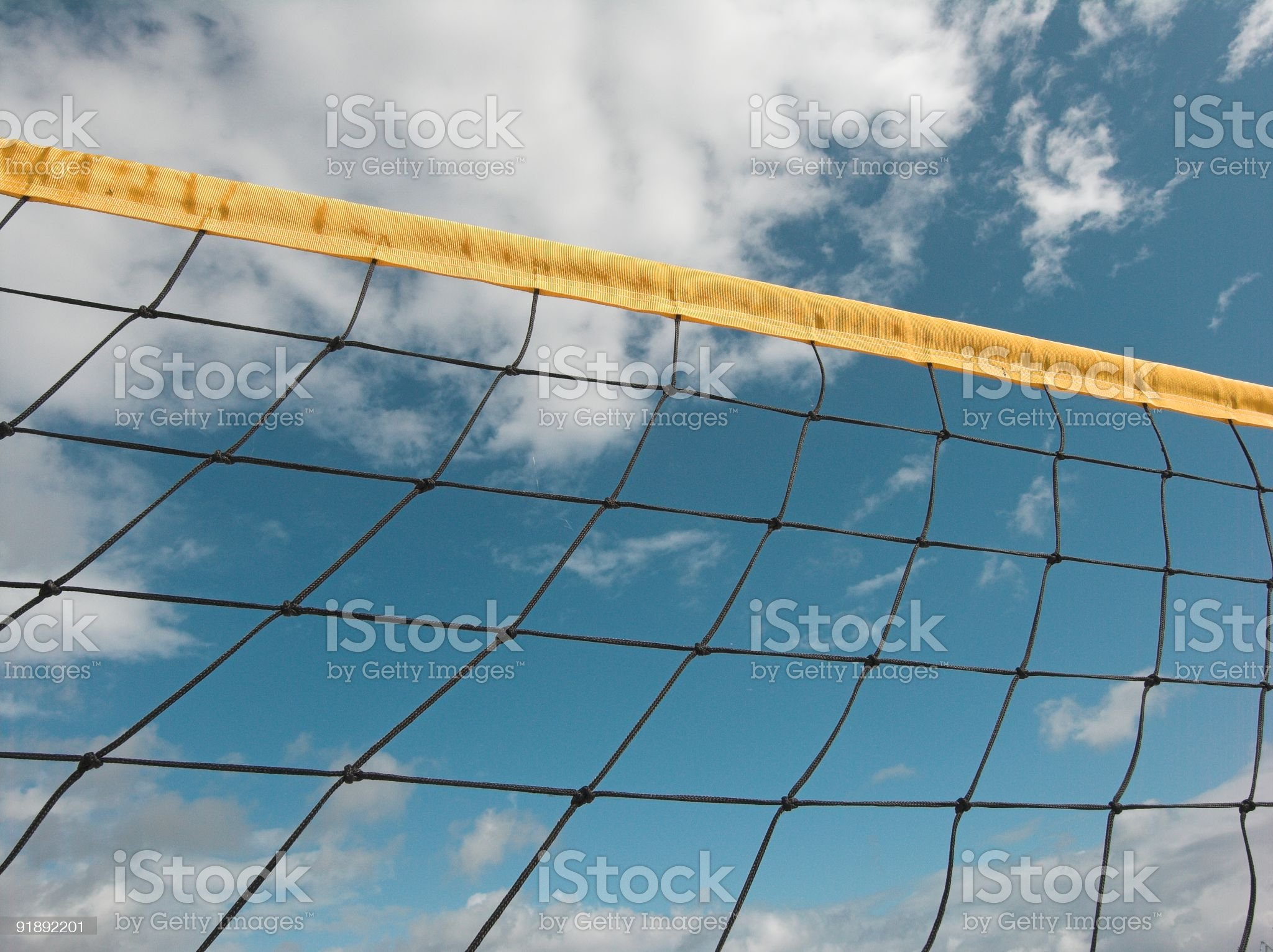 Summer Volleyball Net royalty-free stock photo