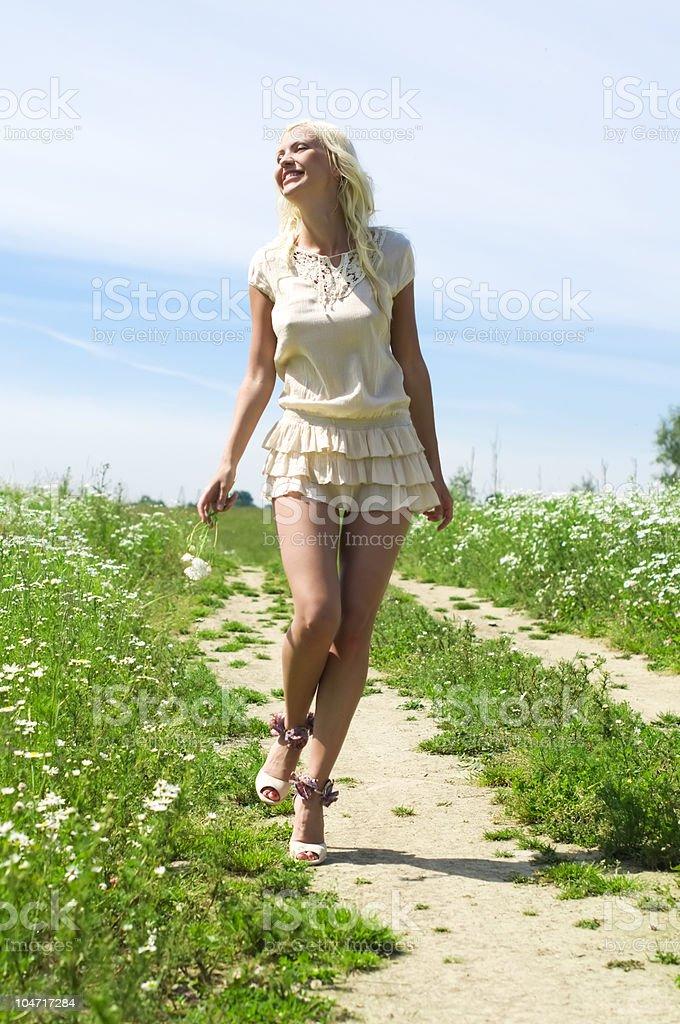 Summer walking royalty-free stock photo