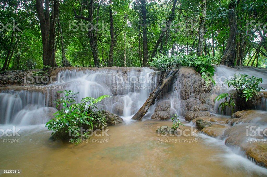 summer, waterfall, beauty, stock photo