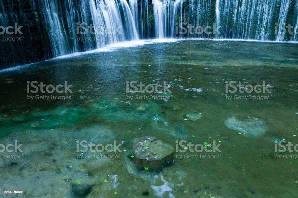 Summer Waterfalls in Japan stock photo