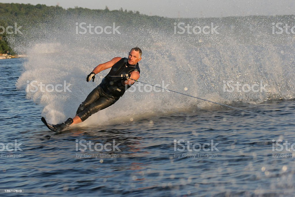 Summer Waterskiier royalty-free stock photo
