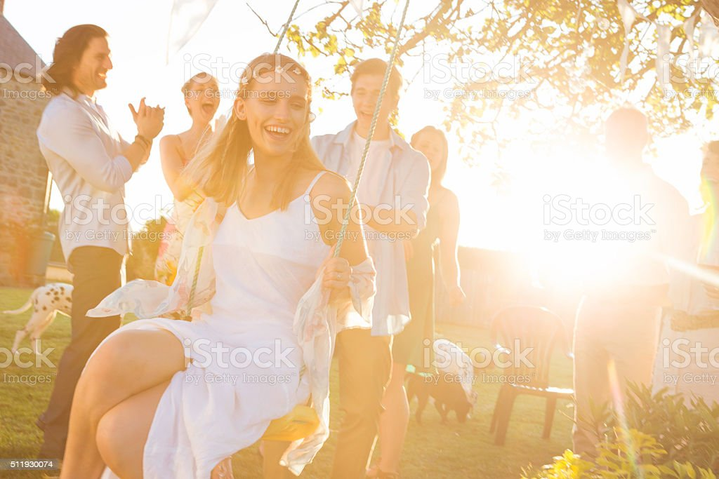 Summer Wedding Reception stock photo